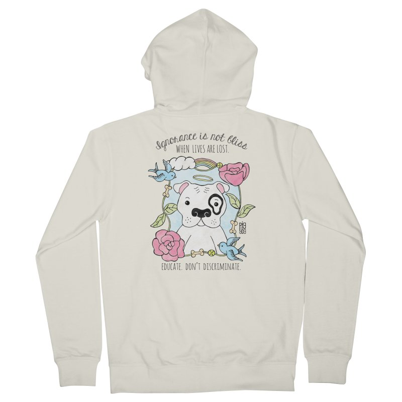 Ignorance Is Not Bliss Women's French Terry Zip-Up Hoody by Pigdog