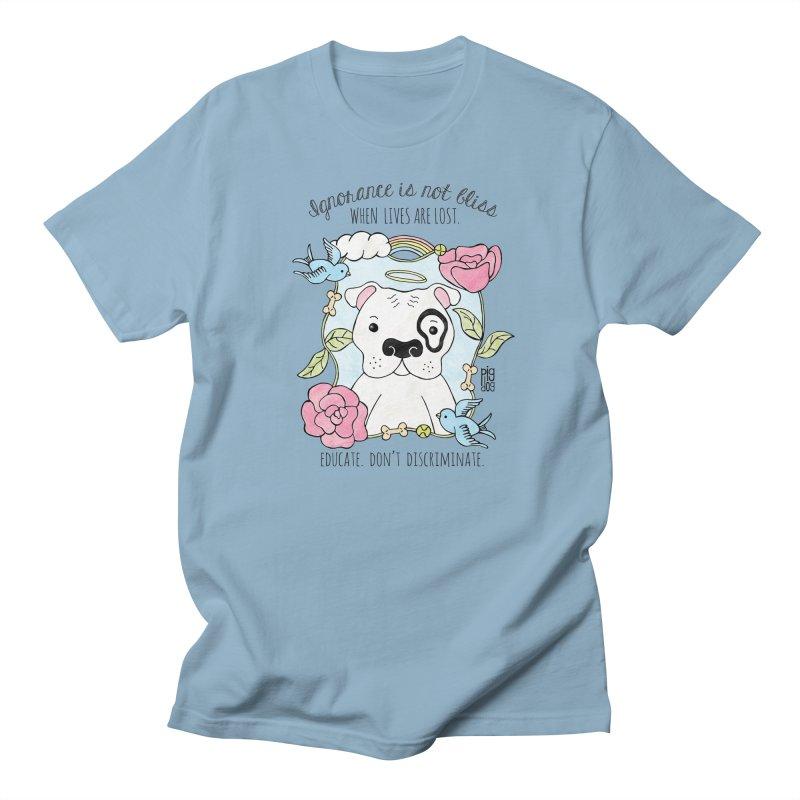 Ignorance Is Not Bliss Men's Regular T-Shirt by Pigdog