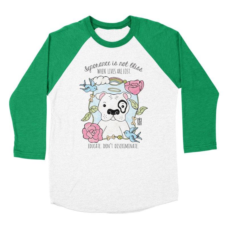 Ignorance Is Not Bliss Women's Baseball Triblend T-Shirt by Pigdog