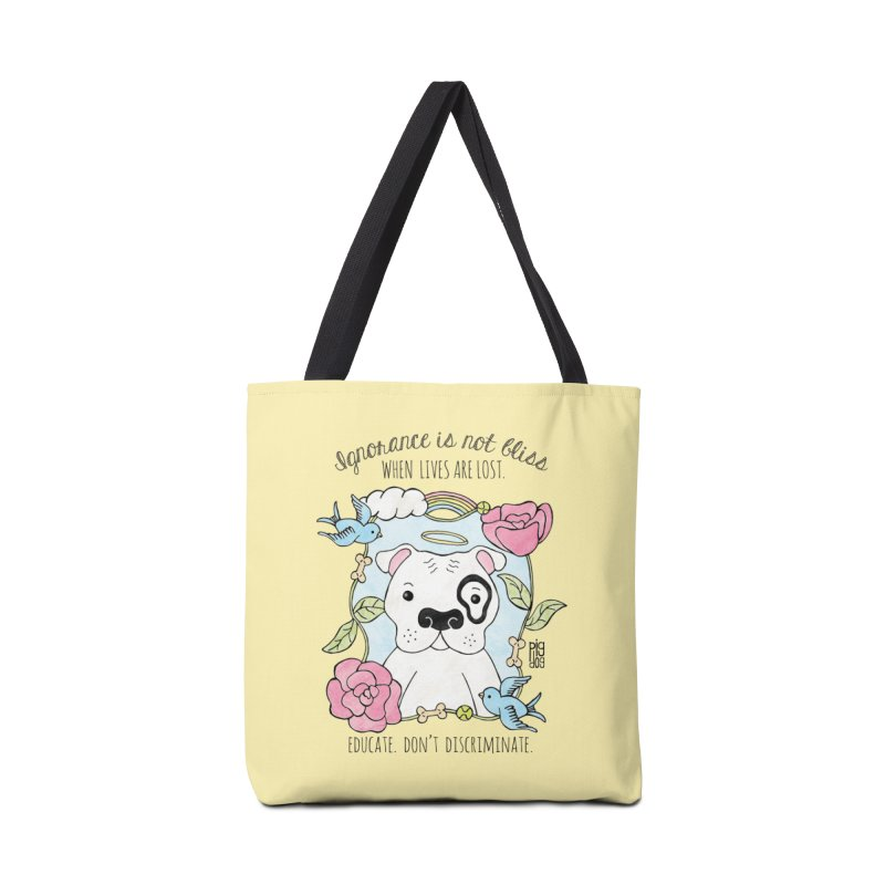 Ignorance Is Not Bliss Accessories Tote Bag Bag by Pigdog