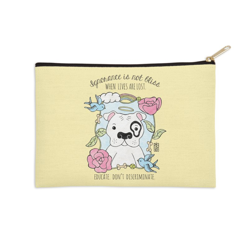 Ignorance Is Not Bliss Accessories Zip Pouch by Pigdog