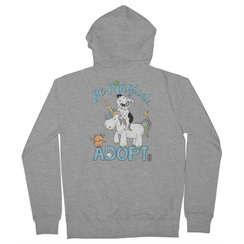 Be Magical Men's French Terry Zip-Up Hoody by Pigdog