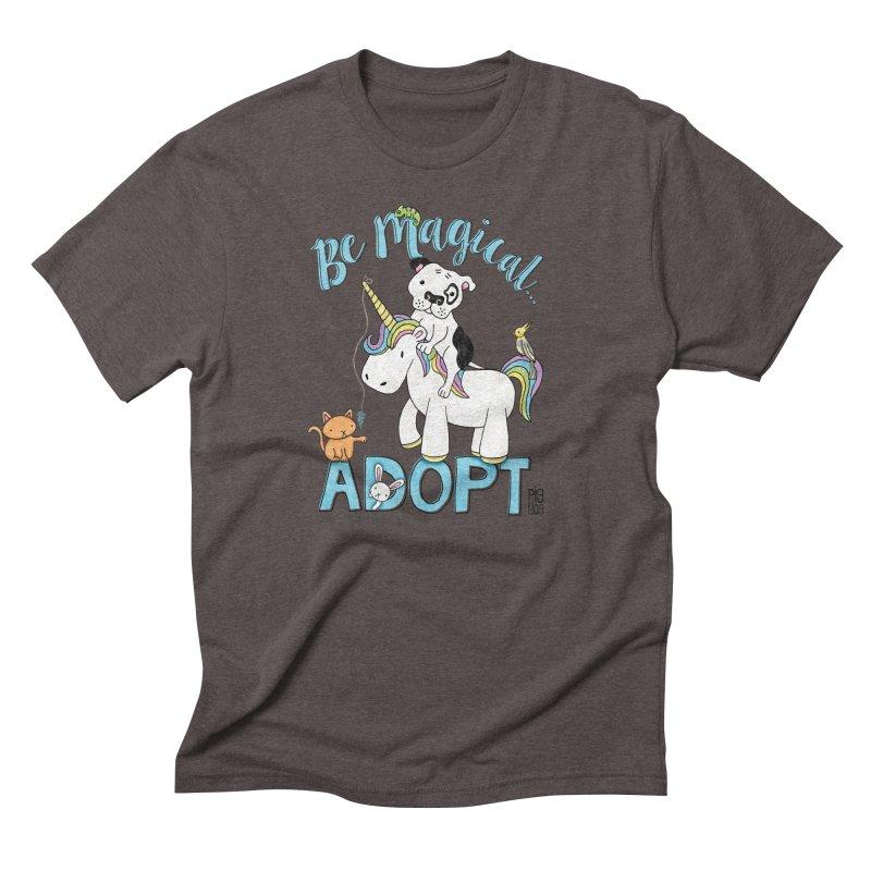 Be Magical Men's Triblend T-Shirt by Pigdog