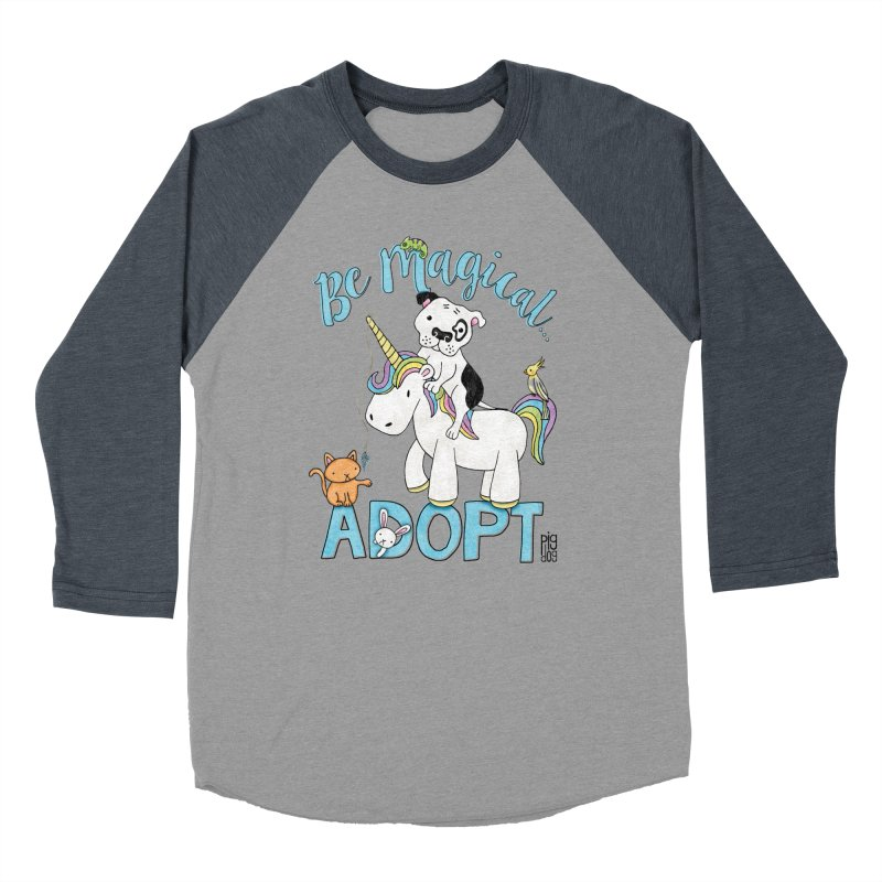 Be Magical Men's Baseball Triblend Longsleeve T-Shirt by Pigdog