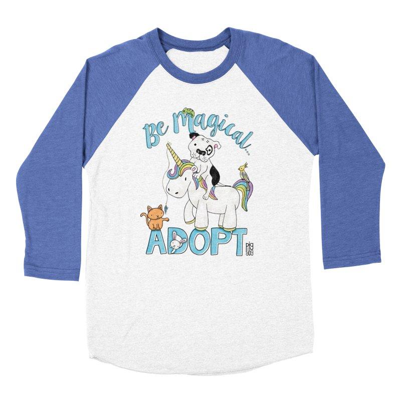 Be Magical Men's Baseball Triblend T-Shirt by Pigdog