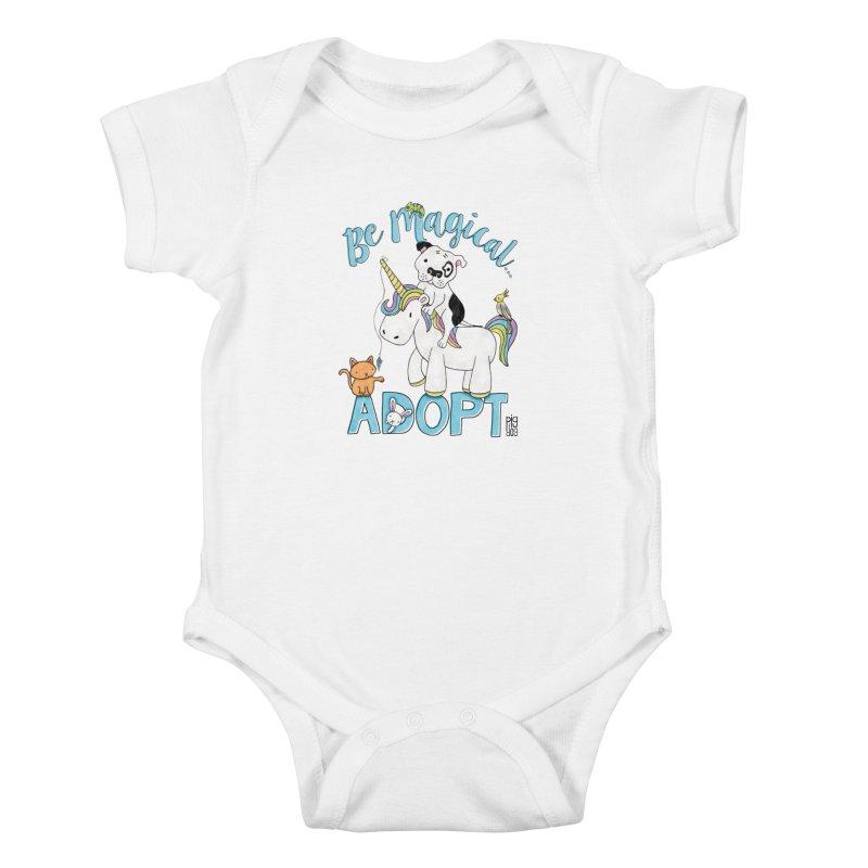 Be Magical Kids Baby Bodysuit by Pigdog