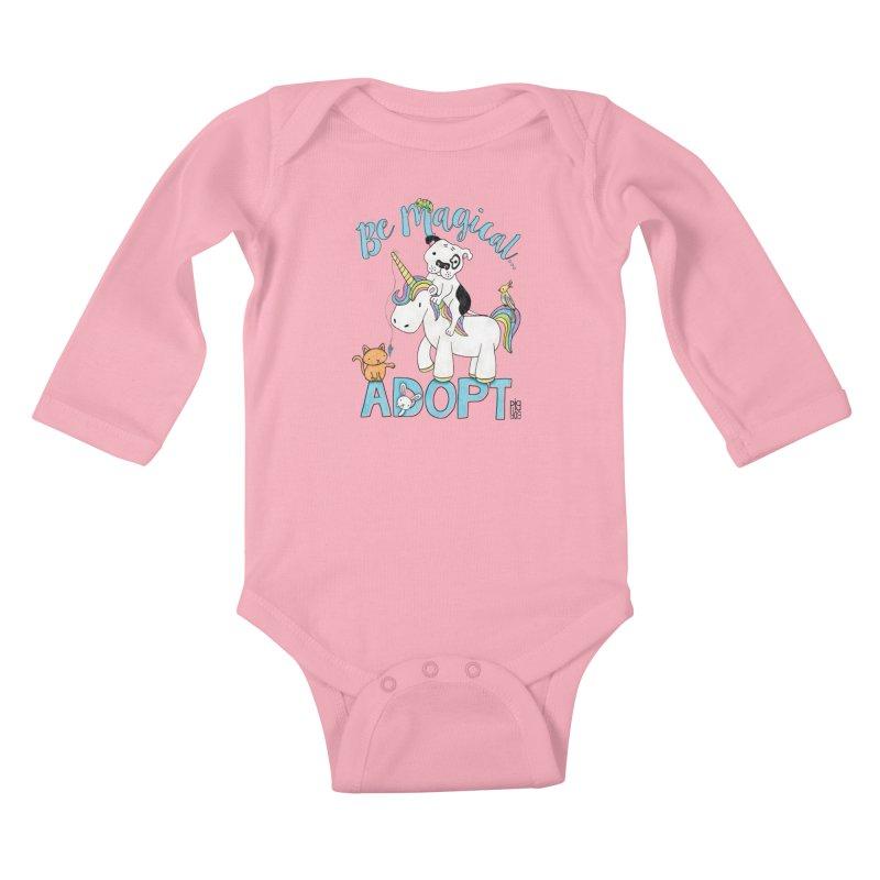 Be Magical Kids Baby Longsleeve Bodysuit by Pigdog