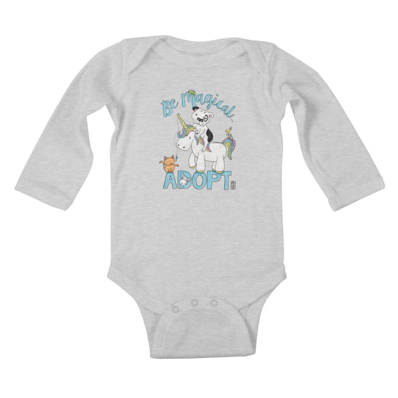 Be Magical Kids Baby Longsleeve Bodysuit by Pigdog