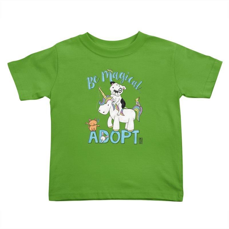 Be Magical Kids Toddler T-Shirt by Pigdog