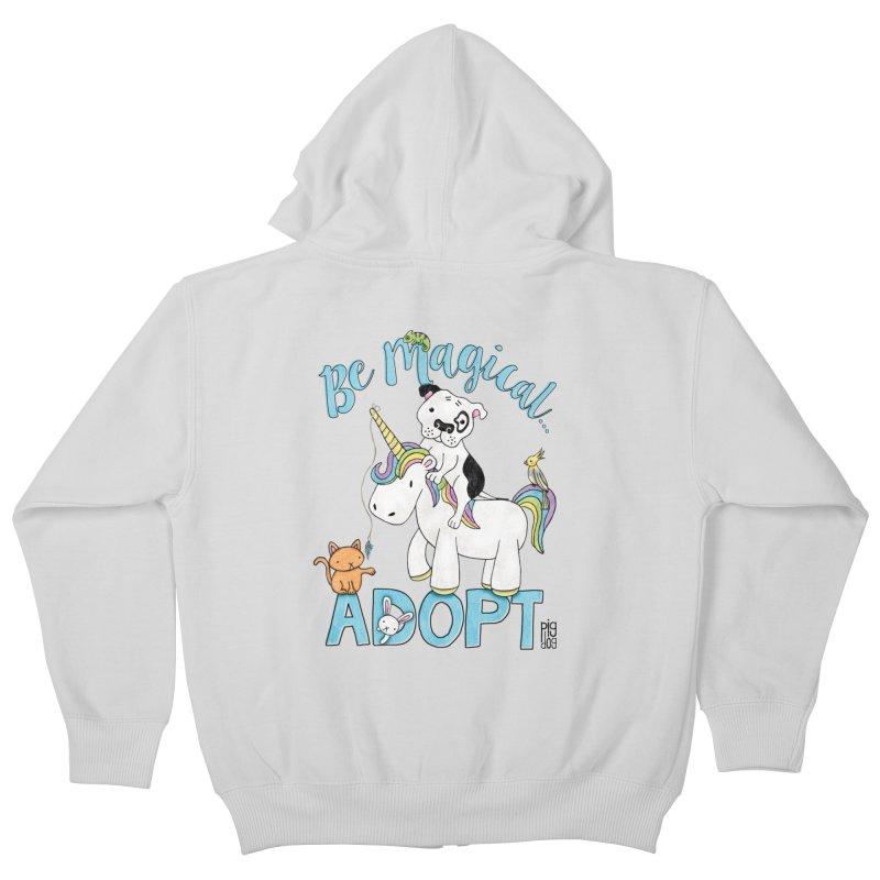 Be Magical Kids Zip-Up Hoody by Pigdog