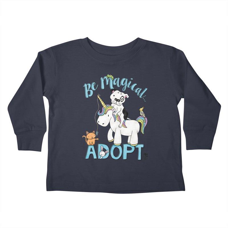 Be Magical Kids Toddler Longsleeve T-Shirt by Pigdog