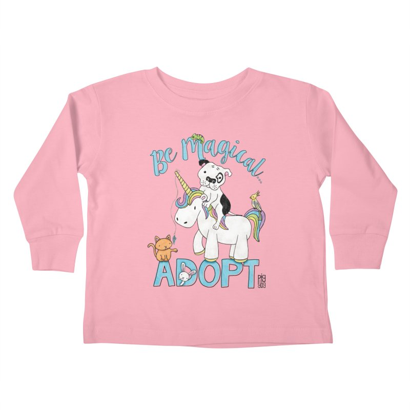 Be Magical Kids Toddler Longsleeve T-Shirt by Pigdog