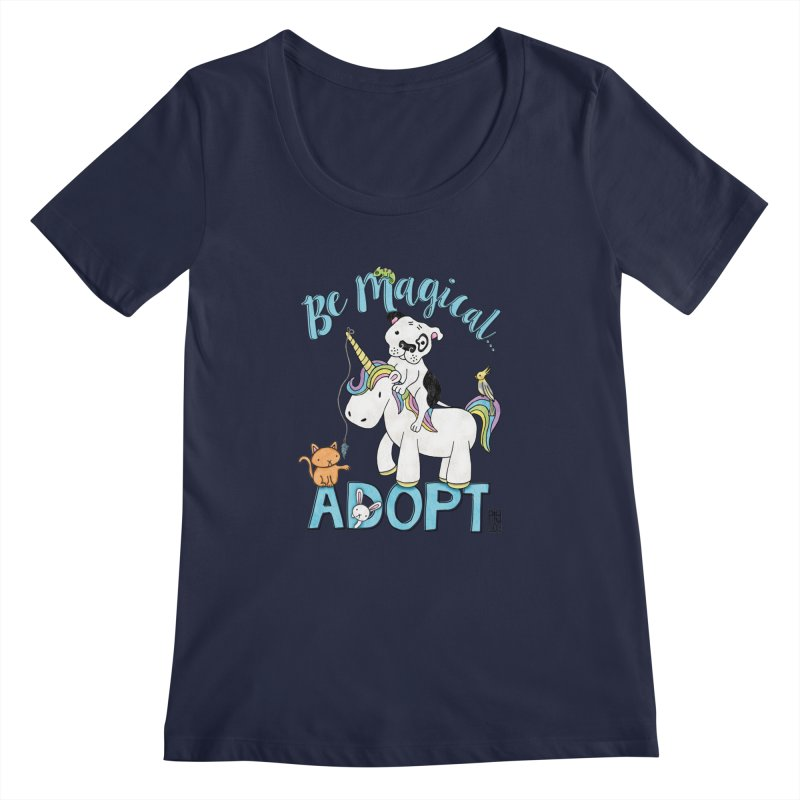 Be Magical Women's Scoopneck by Pigdog