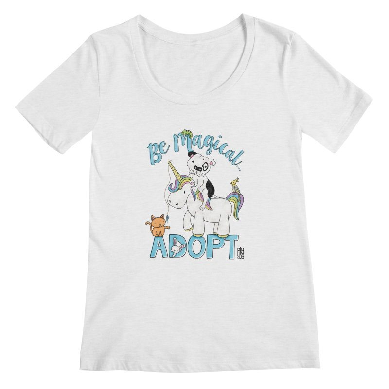 Be Magical Women's Scoop Neck by Pigdog