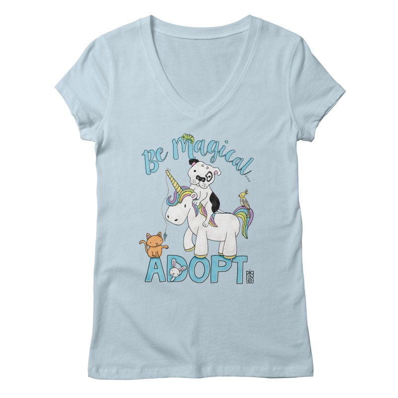 Be Magical Women's V-Neck by Pigdog