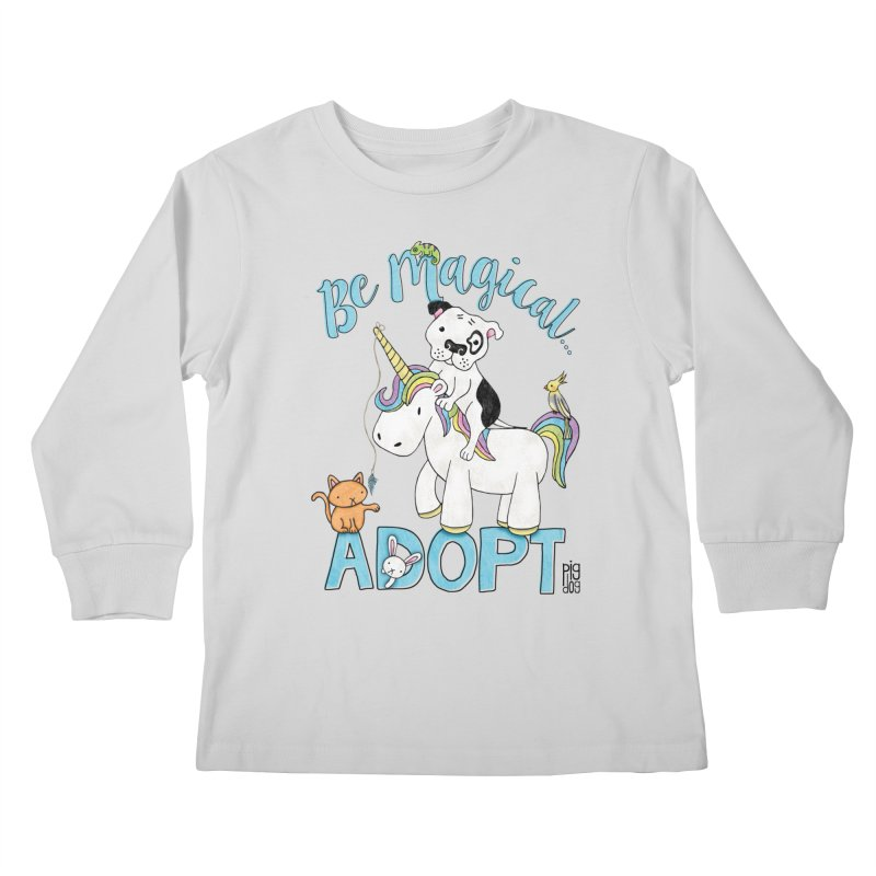 Be Magical Kids Longsleeve T-Shirt by Pigdog