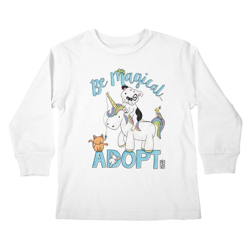 Be Magical Kids Longsleeve T-Shirt by Pigdog