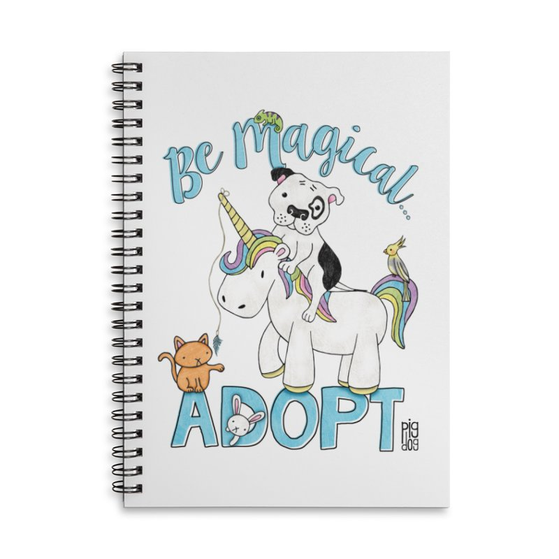 Be Magical Accessories Lined Spiral Notebook by Pigdog