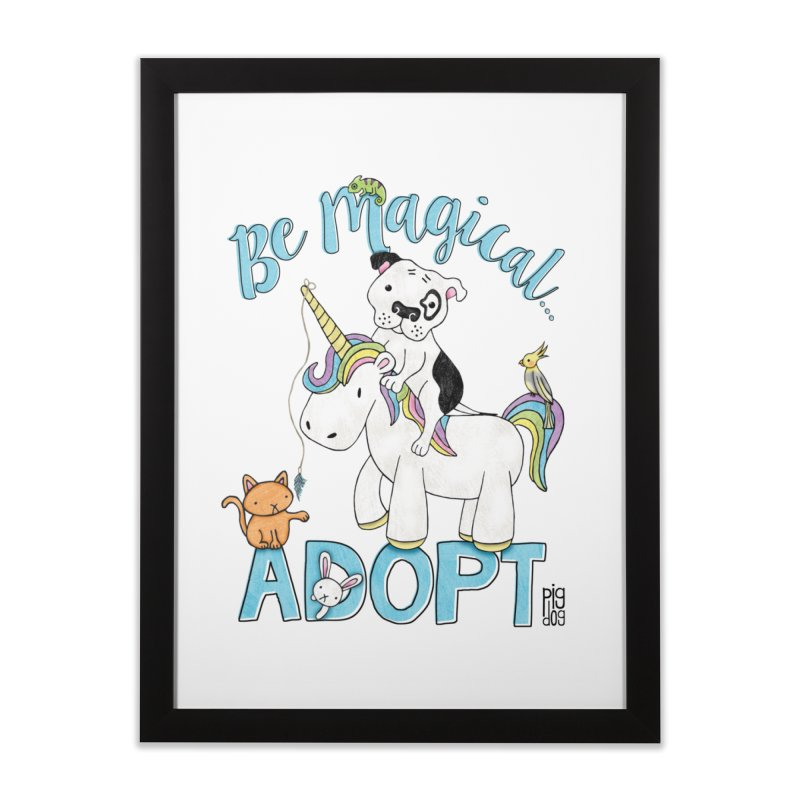 Be Magical Home Framed Fine Art Print by Pigdog