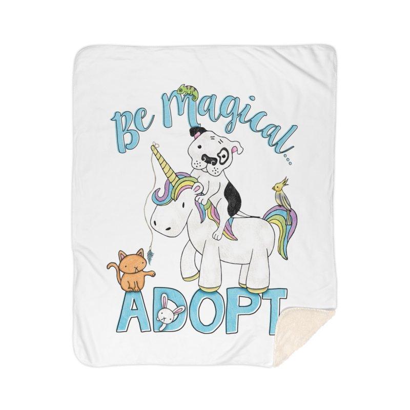 Be Magical Home Sherpa Blanket Blanket by Pigdog