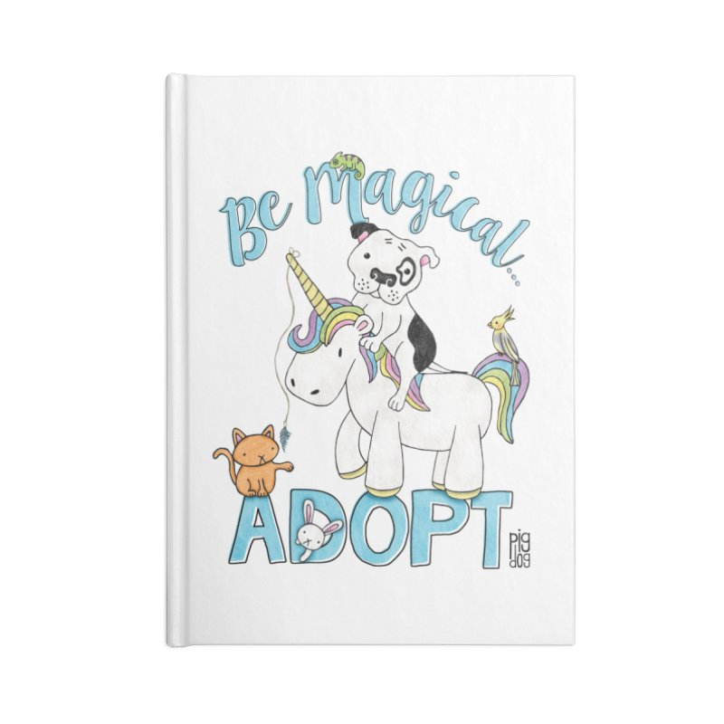 Be Magical Accessories Lined Journal Notebook by Pigdog