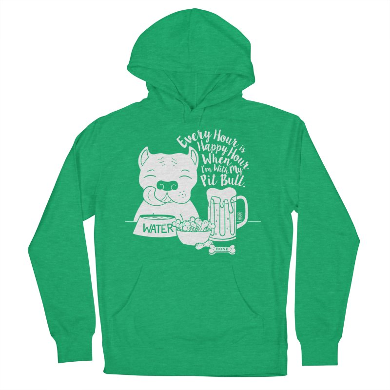Pit Bull Happy Hour Women's Pullover Hoody by Pigdog