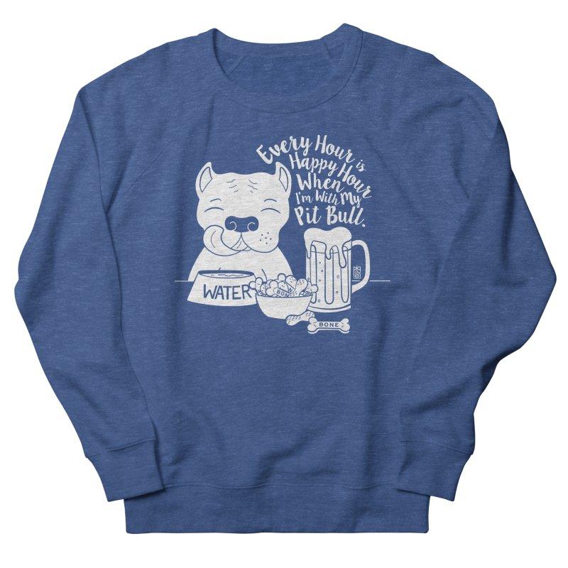 Pit Bull Happy Hour Men's Sweatshirt by Pigdog