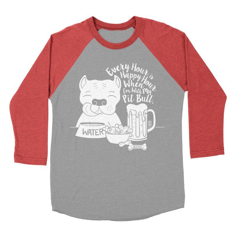 Pit Bull Happy Hour Men's Longsleeve T-Shirt by Pigdog