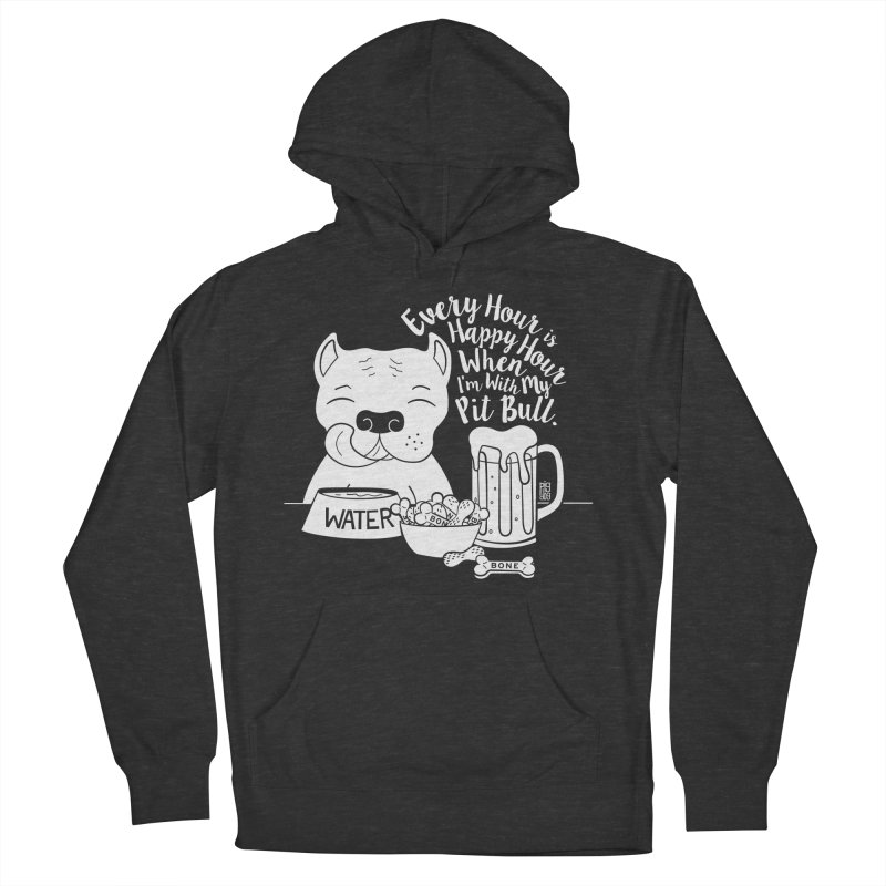 Pit Bull Happy Hour Women's French Terry Pullover Hoody by Pigdog