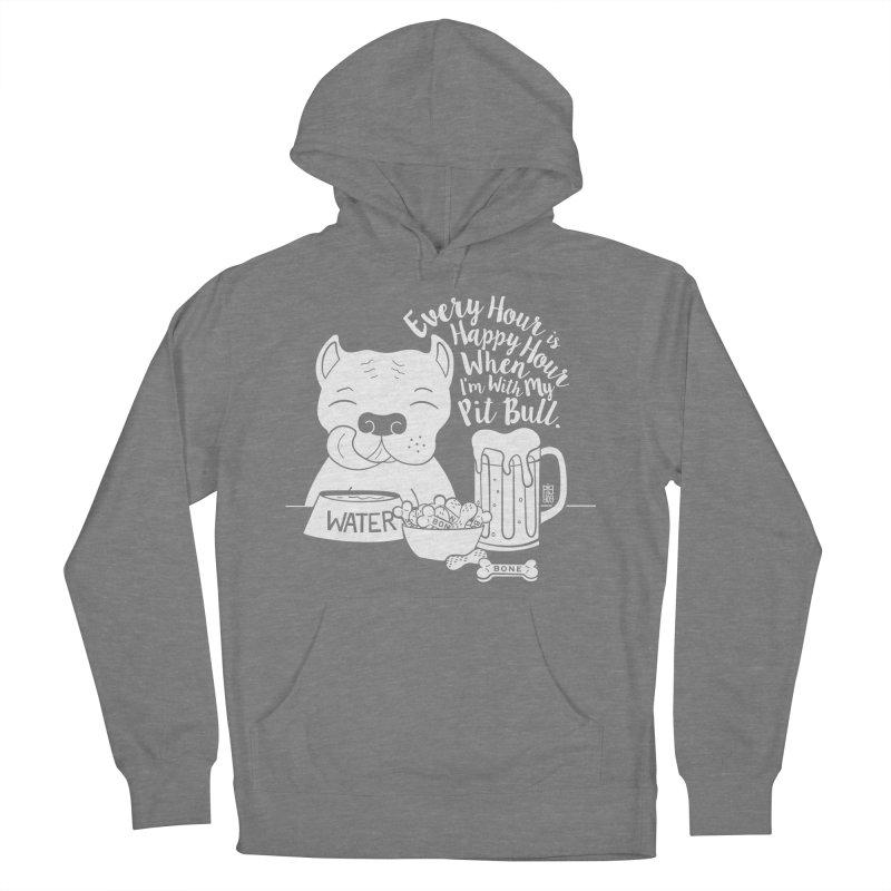 Pit Bull Happy Hour Women's Pullover Hoody by Pigdog