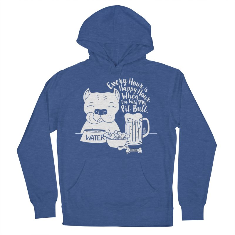 Pit Bull Happy Hour Men's French Terry Pullover Hoody by Pigdog