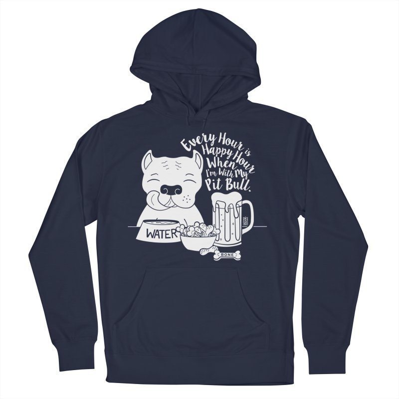 Pit Bull Happy Hour Men's Pullover Hoody by Pigdog