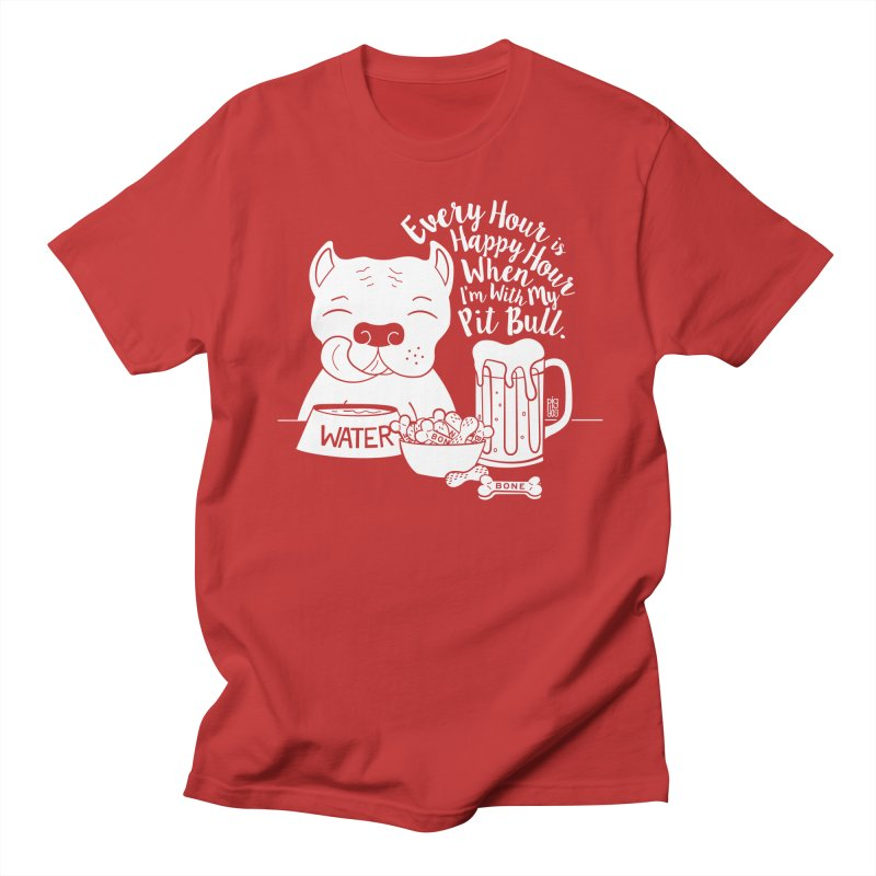 Pit Bull Happy Hour Men's Regular T-Shirt by Pigdog