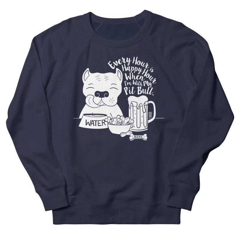 Pit Bull Happy Hour Men's French Terry Sweatshirt by Pigdog