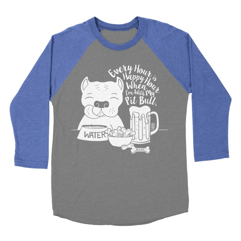 Pit Bull Happy Hour Women's Baseball Triblend Longsleeve T-Shirt by Pigdog