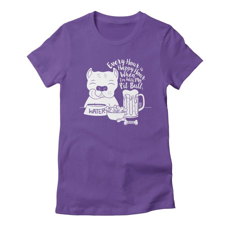 Pit Bull Happy Hour Women's T-Shirt by Pigdog