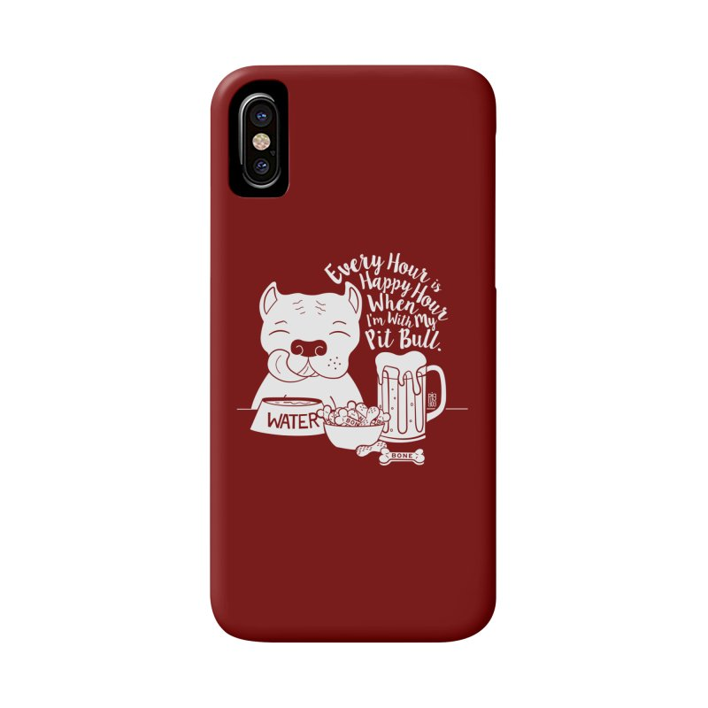 Pit Bull Happy Hour Accessories Phone Case by Pigdog