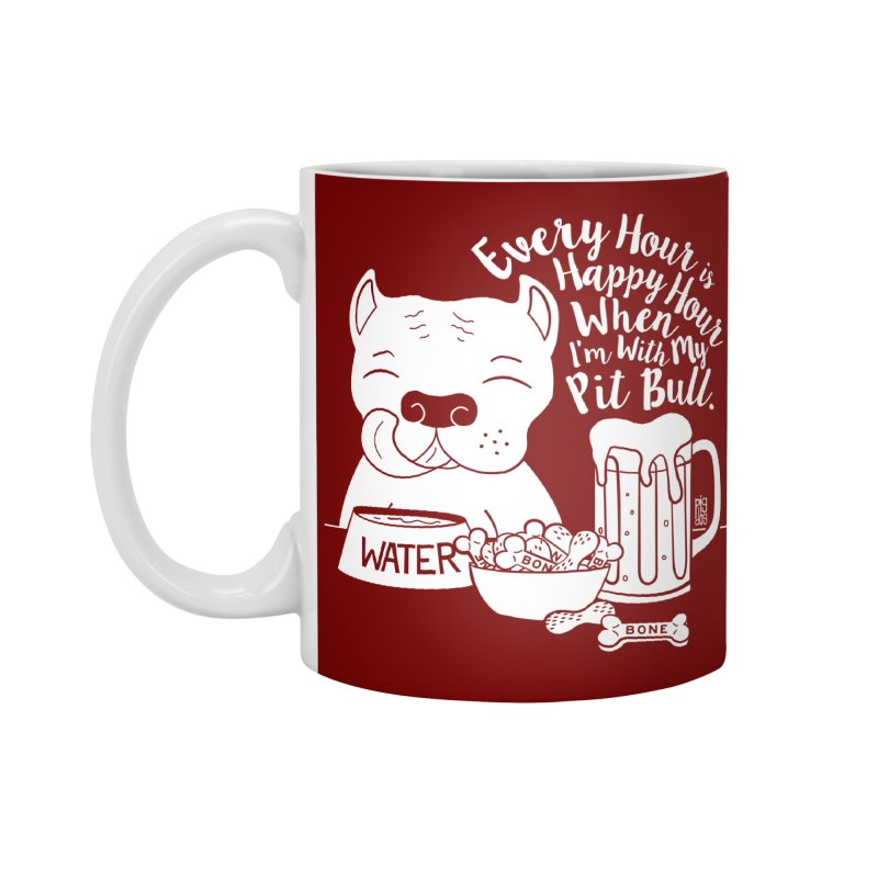 Pit Bull Happy Hour Accessories Standard Mug by Pigdog