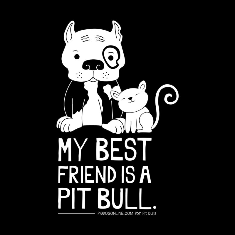 Pittie and Kitty Best Friend Women's V-Neck by Pigdog