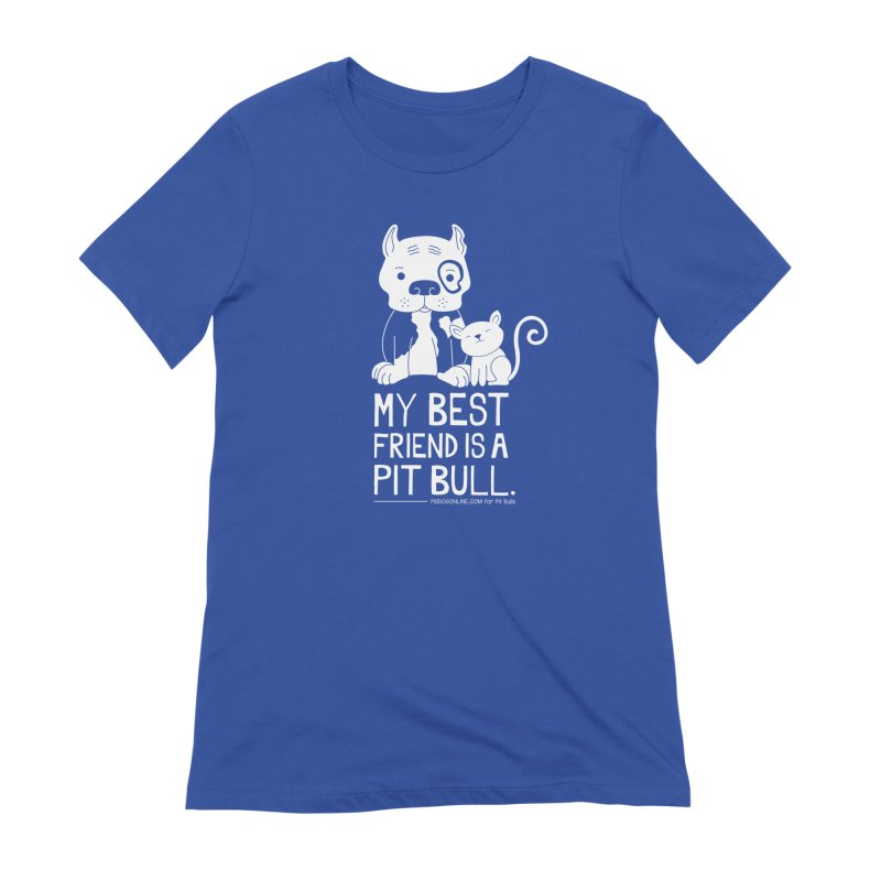 Pittie and Kitty Best Friend Women's Extra Soft T-Shirt by Pigdog
