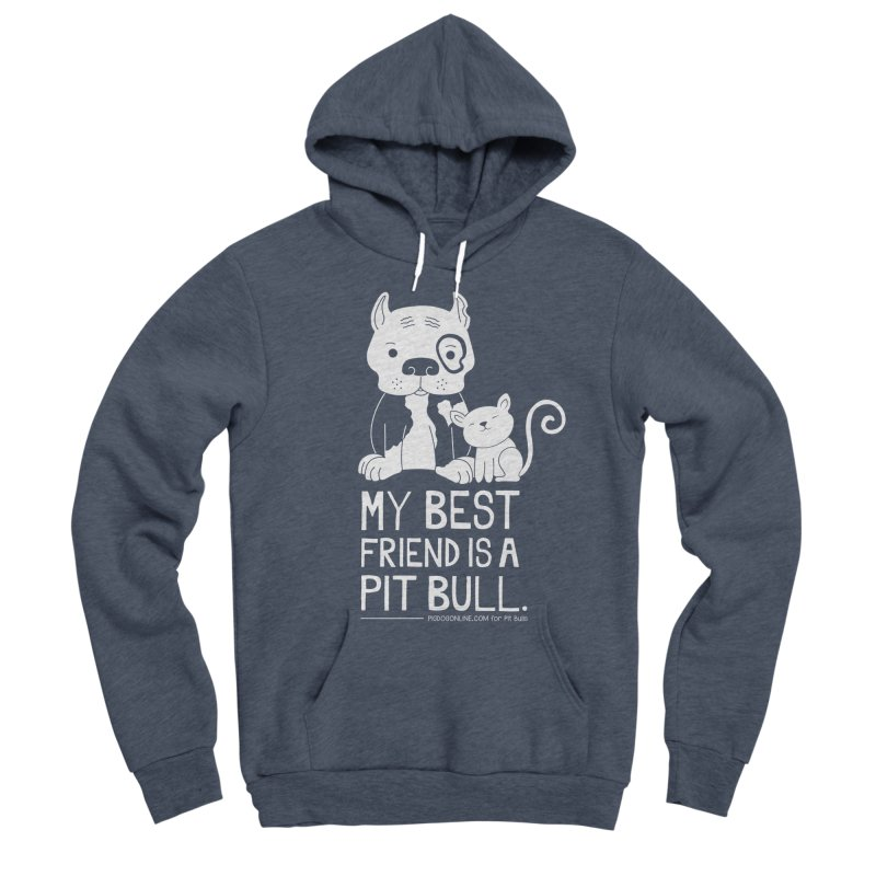 Pittie and Kitty Best Friend Women's Sponge Fleece Pullover Hoody by Pigdog