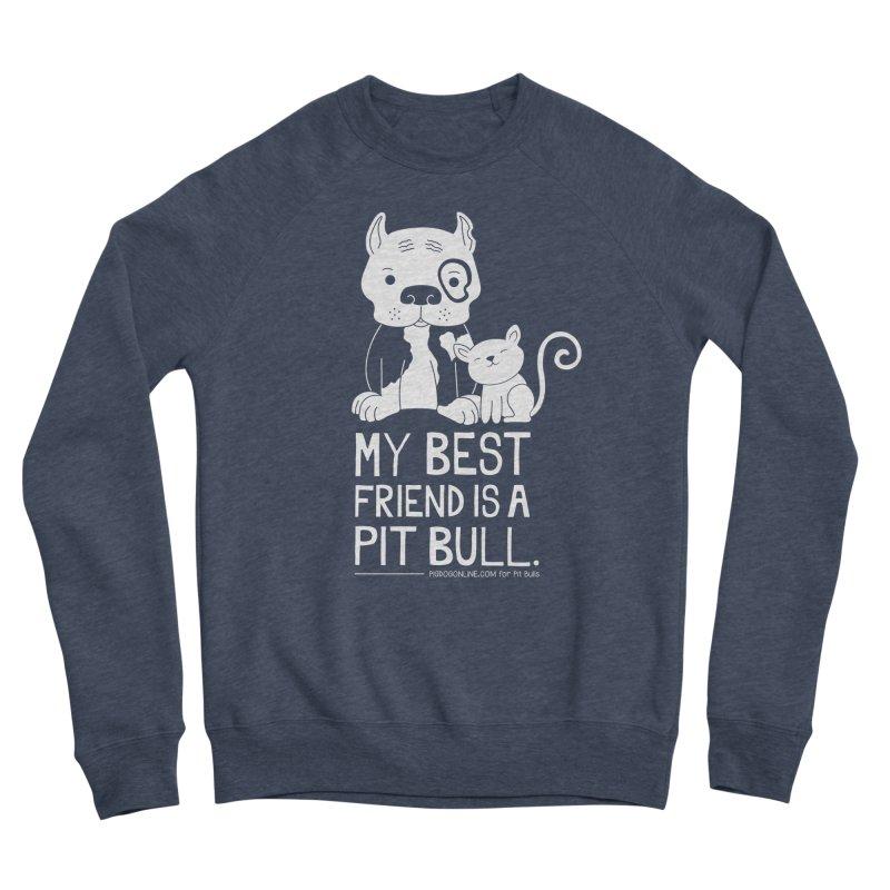 Pittie and Kitty Best Friend Women's Sponge Fleece Sweatshirt by Pigdog