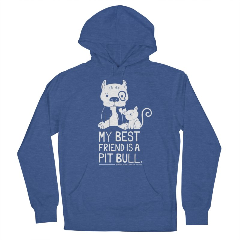 Pittie and Kitty Best Friend Women's Pullover Hoody by Pigdog