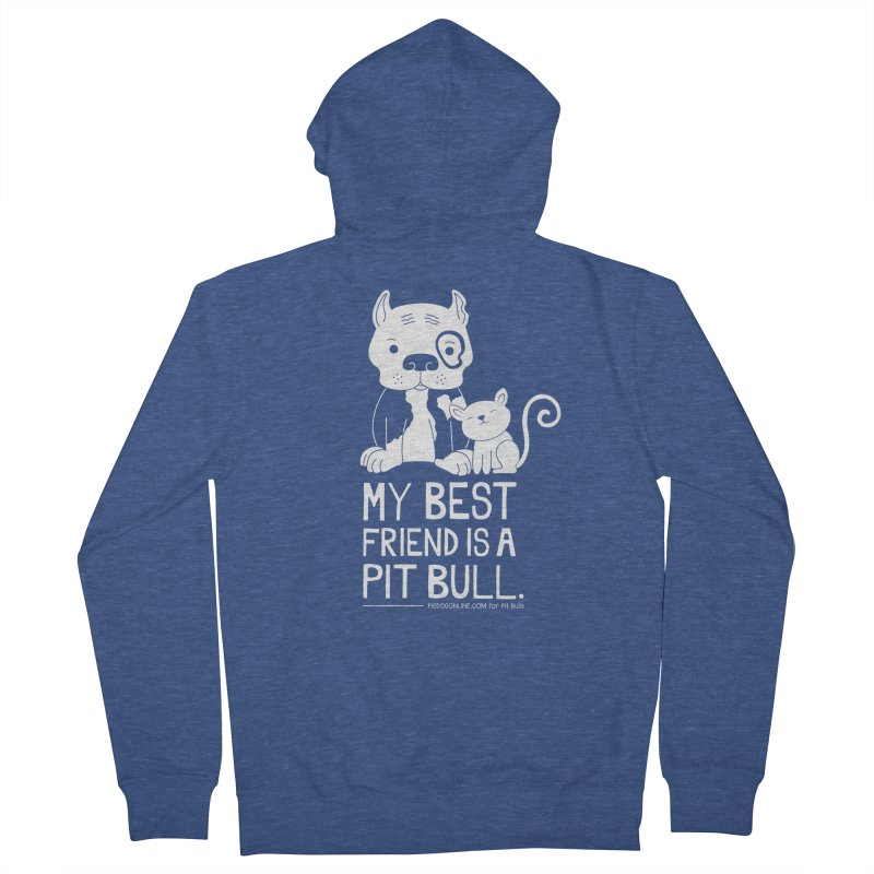 Pittie and Kitty Best Friend Men's Zip-Up Hoody by Pigdog