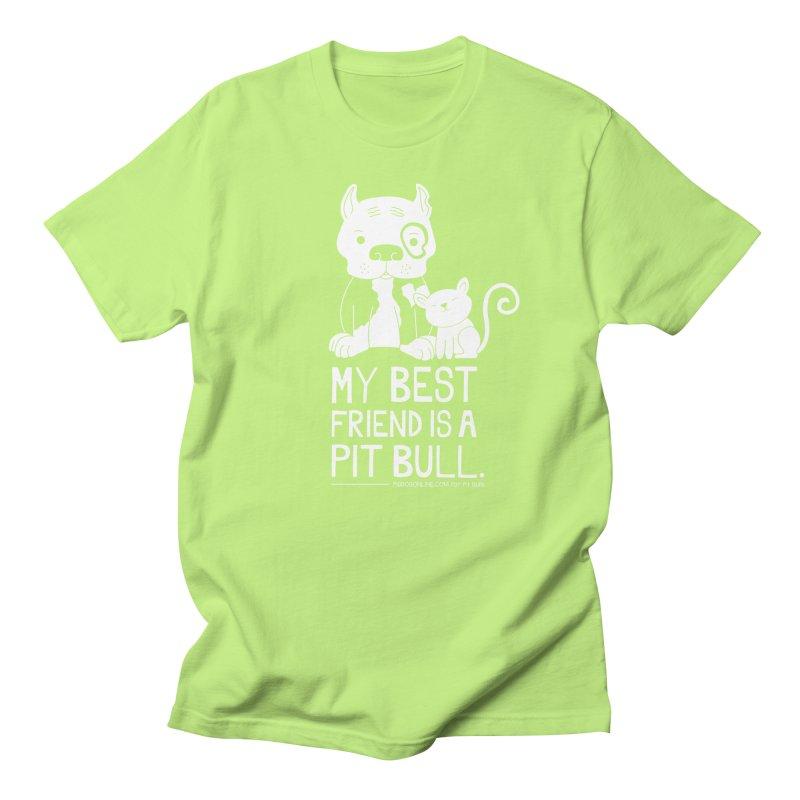 Pittie and Kitty Best Friend Men's Regular T-Shirt by Pigdog