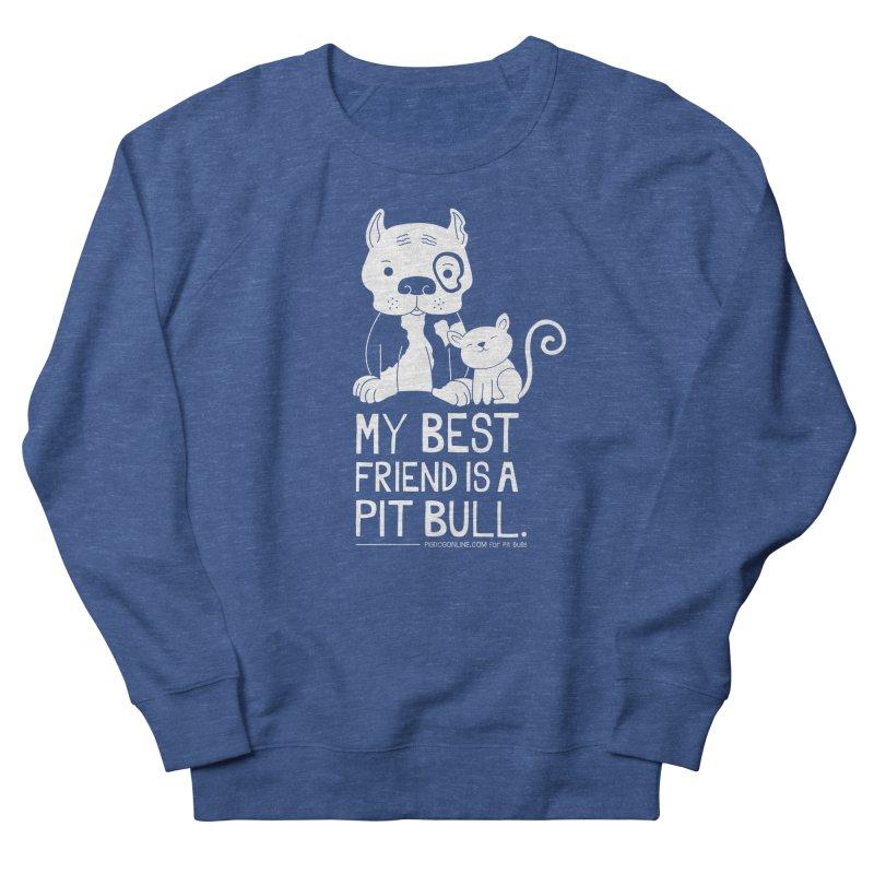 Pittie and Kitty Best Friend Men's Sweatshirt by Pigdog