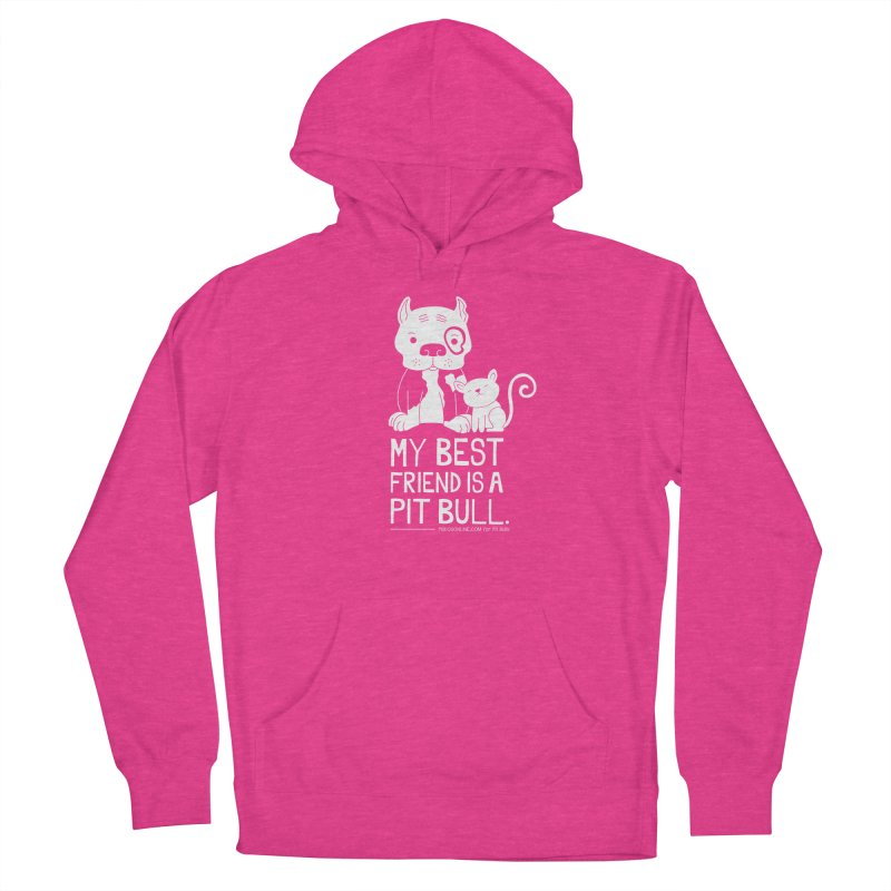 Pittie and Kitty Best Friend Women's French Terry Pullover Hoody by Pigdog