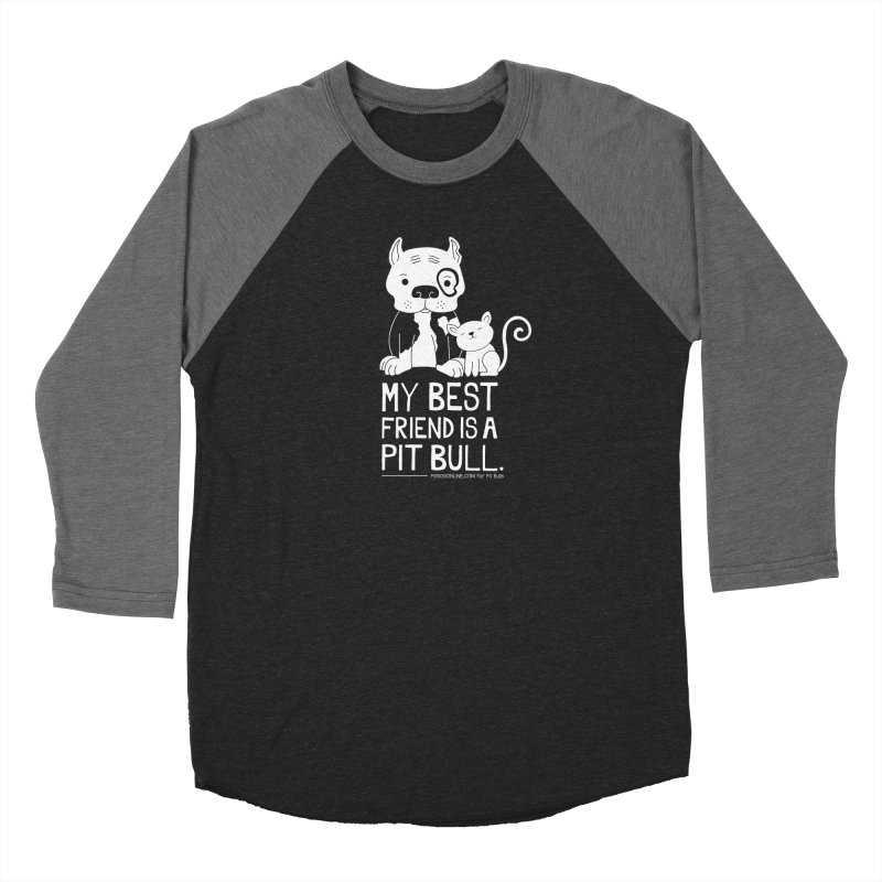 Pittie and Kitty Best Friend Men's Baseball Triblend Longsleeve T-Shirt by Pigdog