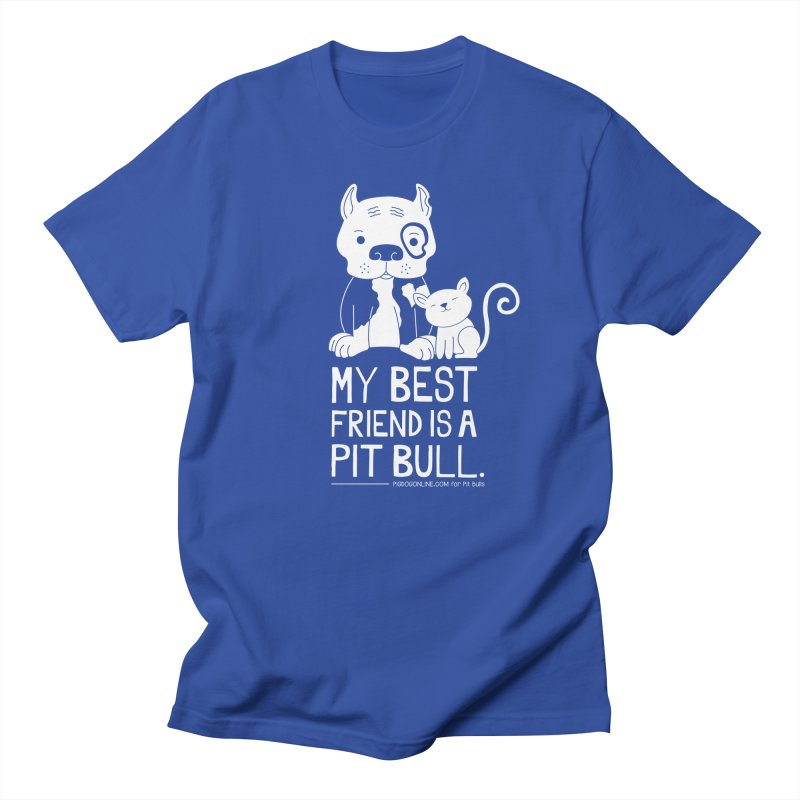 Pittie and Kitty Best Friend Men's Regular T-Shirt by Pigdog
