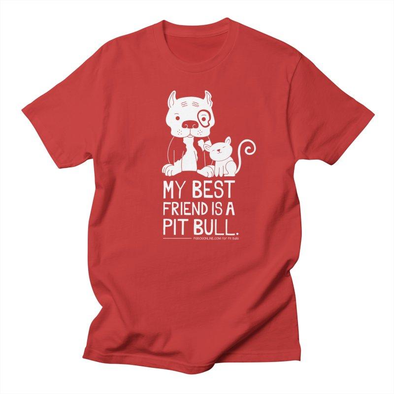 Pittie and Kitty Best Friend Men's T-Shirt by Pigdog